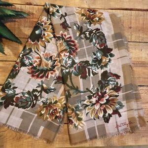 Ann Taylor Wool Floral Scarf
